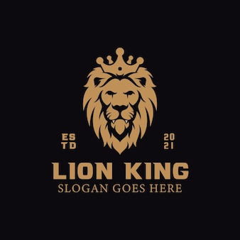 Elegantes könig löwen logo