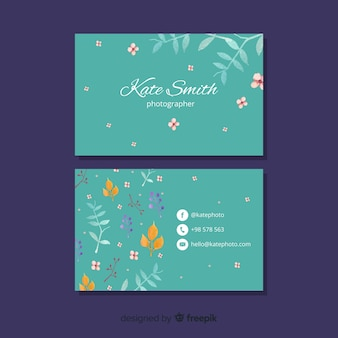 Elegantes konzept für visitenkartenvorlage
