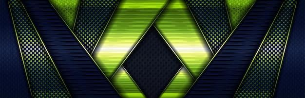 Elegantes konzept glänzend grün mit leuchtenden partikeln