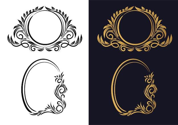 Elegantes kreatives blumenrahmen-set-design