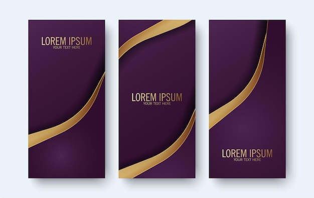 Elegantes lila banner mit wellenart