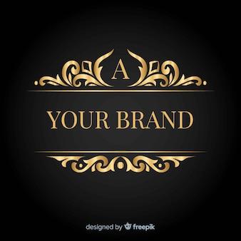 Elegantes logo mit dekorativen elementen