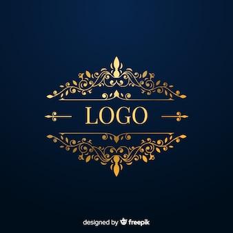 Elegantes logo mit goldenen elementen