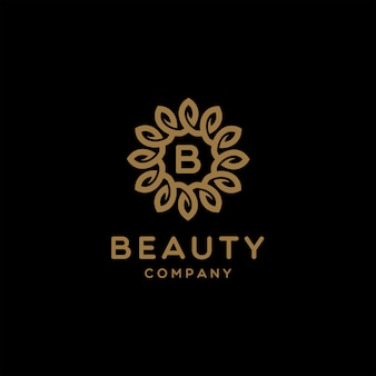 Elegantes luxusblumen-logo