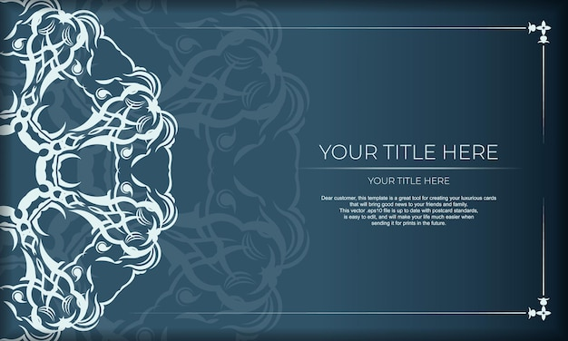 Elegantes luxusdesign auf blauem hintergrund. geeignet für etiketten, abzeichen, rahmen, logos, verpackungen, parfums, lotionen, seifen, schokolade.