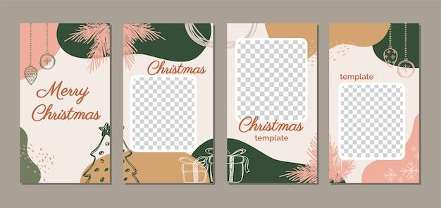 Elegantes modernes frohe weihnachten trendy holiday design für social media post