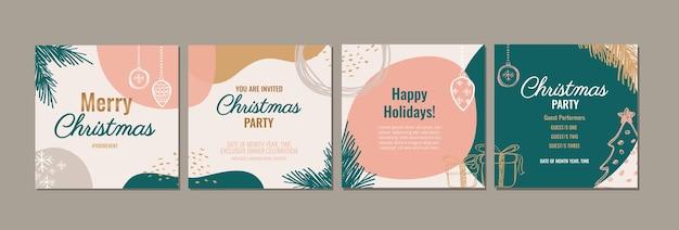 Elegantes modernes frohe weihnachten trendy holiday design für social media posts
