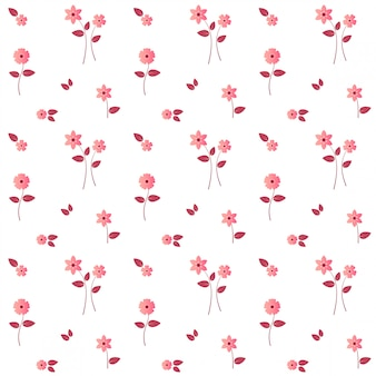 Elegantes modernes rosa blumen-nahtloses muster