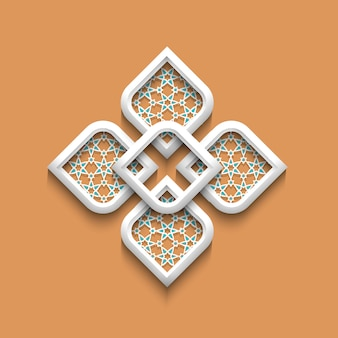 Elegantes muster 3d in der arabischen art
