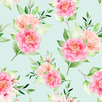 Elegantes nahtloses musteraquarellblumenmuster