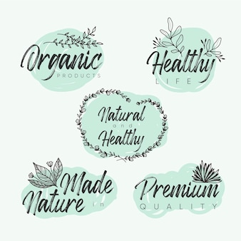 Elegantes naturkosmetik-logoset