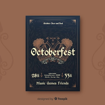 Elegantes oktoberfest parteiplakat