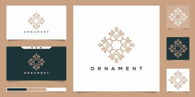 Elegantes ornament-design-logo, das inspiriert