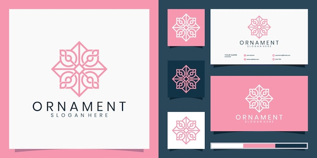 Elegantes ornament-design-logo