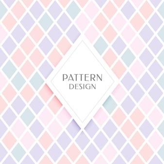Elegantes rautenformmuster in pastellfarben