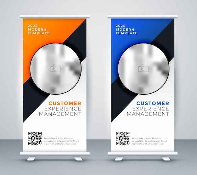Elegantes roll-up standee-präsentationsbanner