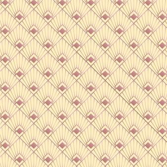 Elegantes rosen-art-deco-muster