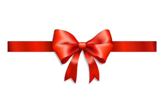 Elegantes rotes band und schleife lokalisiert auf weiß