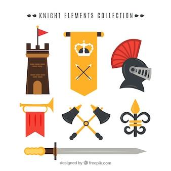 Elegantes set von mittelalterlichen elementen