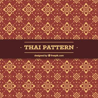 Elegantes thailändisches muster mit flachem design