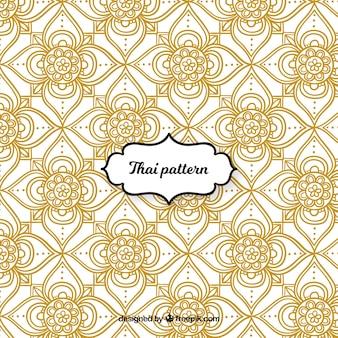 Elegantes thailändisches Muster mit goldener Art