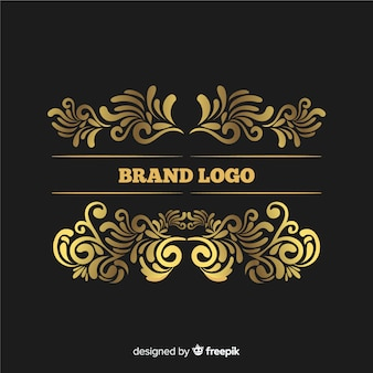 Elegantes vintages dekoratives logo