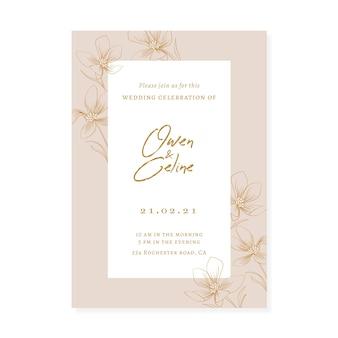 Elegantes weibliches save the date-einladungsthema
