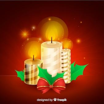 Elegantes weihnachtskerzendesign