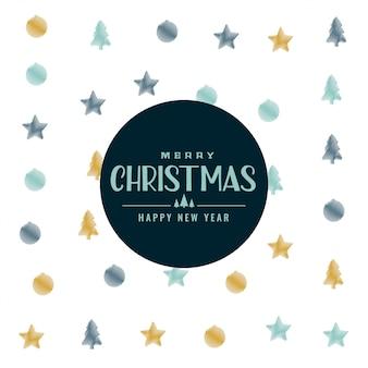 Elegantes weihnachtsmuster-hintergrunddesign