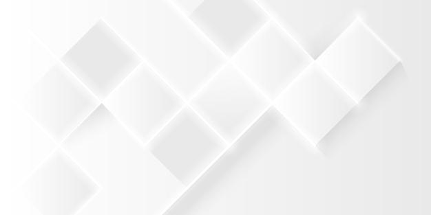 Elegantes weißes polygon