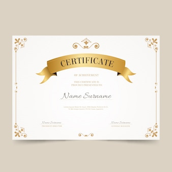 Elegantes zertifikaterkennungs-vorlagenthema