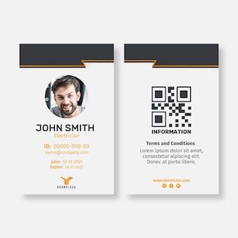 Elektriker-ausweisschablone