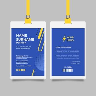 Elektriker id-karte vorlage