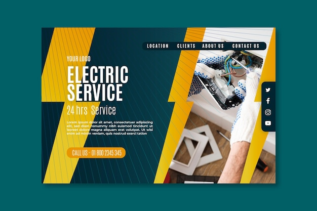 Elektriker landing page