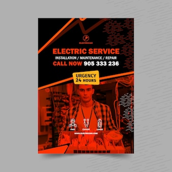 Elektriker-plakatschablone