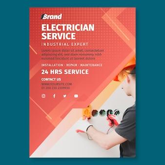 Elektriker service flyer vorlage