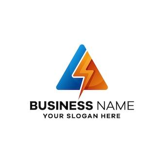 Elektrische bunte farbverlaufs-logo-vorlage