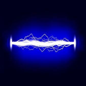 Elektrische entladung. blitz. lichteffekt.