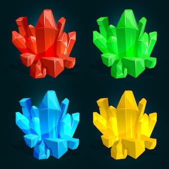 Elektrische kabeldrähte, unterschiedliche stromstärke und farben. vektorillustrationen in der karikaturart Premium Vektoren