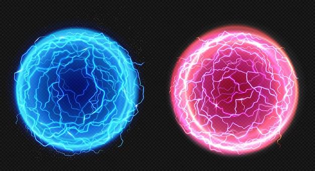 Elektrische kugeln, blitzkreisschlag, plasma