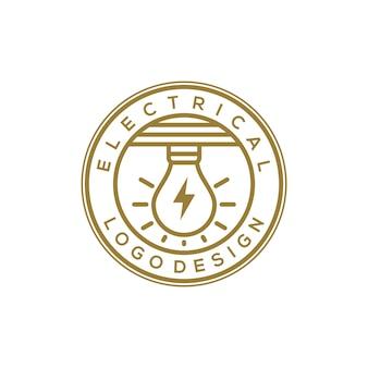 Elektrische logo design vektor-illustration
