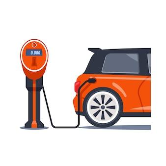 Elektrische Tankstelle für Elektroauto, Aufladen von Elektroautos