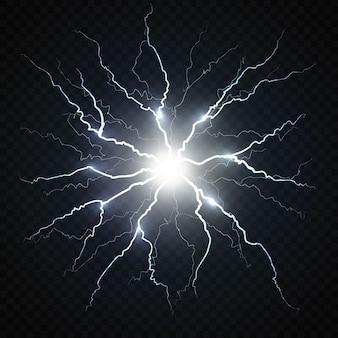Elektrischer blitz.
