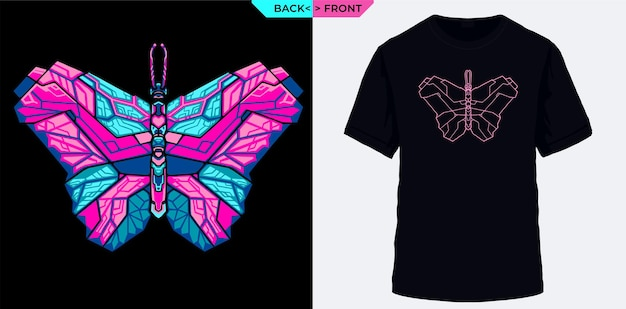 Elektrischer geometrischer schmetterling geeignet für t-shirt-siebdruck
