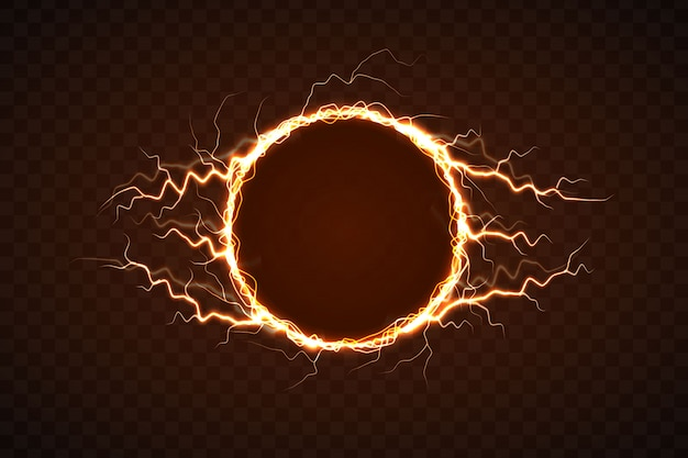 Elektrischer kreis mit blitzeffekt