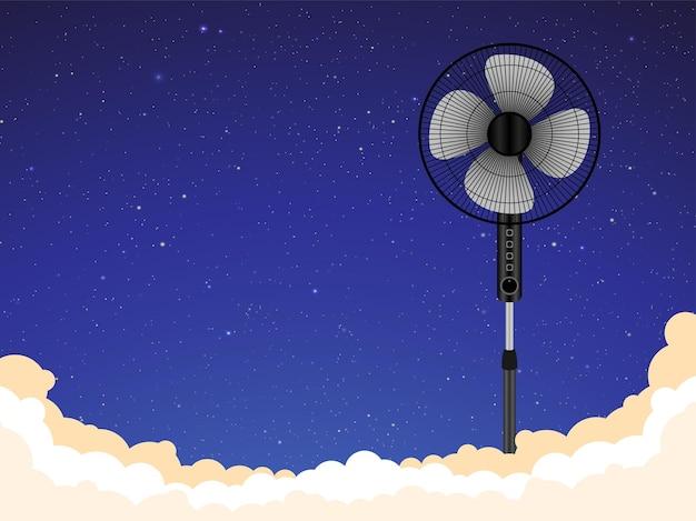 Elektrischer ventilator stand ventilatorbelüftung