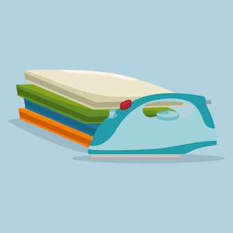 Elektrischer wäscheservice der bügeleisen