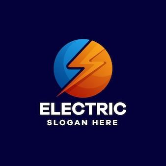 Elektrisches logo-design mit farbverlauf