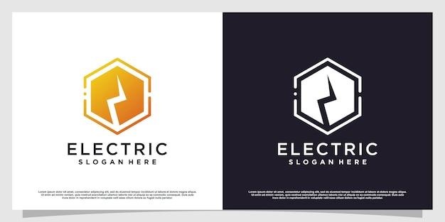 Elektrisches logo mit kreativem, einfachem und minimalistischem konzept premium-vektor teil 1