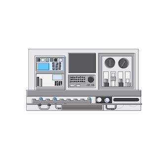 Elektrizitäts-technologie-erzeugungs-industrie-widerstand-dünne linie vektor-illustration